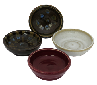 Hand cream dishes in various glazes
